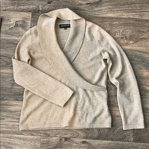 Jones New York Cashmere Tan Sweater Size P Medium